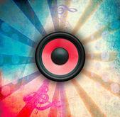 Grunge music illustration — 图库照片