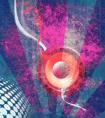 цвет гранж музыка состав — Стоковое фото