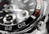 Detalhe de relógio de homem de luxo — Foto Stock