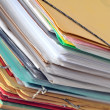 Stack of old paper files — Stock Photo #8096426