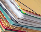 Stack of old paper files — Stock Photo