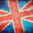 Stock Photo: Grunge British flag