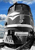 Old diesel locomotive — Stock Photo