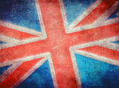 Grunge britse vlag — Stockfoto