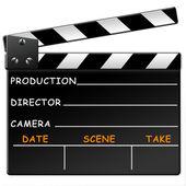 Ardesia di pellicola — Foto Stock