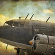 Old military aircraft - Stock Photo