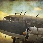 Постер, плакат: Old military aircraft