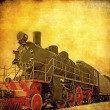 Grunge steam locomotive - Stock Photo