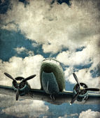 Old military aircraft — Stok fotoğraf
