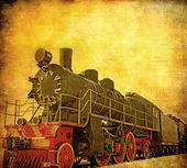 Grunge steam locomotive — Stock Photo