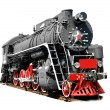 Old steam locomotive - Stock Photo