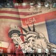 USA grunge background - Stock Photo