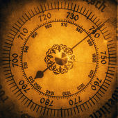 Vintage hygrometer, grunge background — Stock Photo