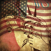 America, grunge background — 图库照片