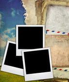 Old paper texture with picture frame — Stock Photo