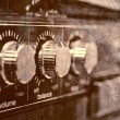 Stock Photo: Old amplifier close up