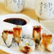 Unagi sushi roll — Stock Photo