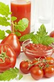 All kinds of tomatoes — Stock Photo