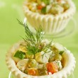 Traditional Russian salad - Stock Photo