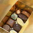 Gift box with chocolates - Foto Stock