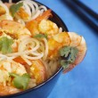Rice noodles with shrimps — Stock Photo