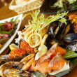 Assiette de fruits de mer — Photo