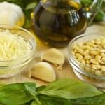 Pesto ingredients — Stock Photo #8015771
