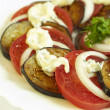 Salad with ​​tomatoes, eggplant and onions - Stock Photo
