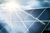 Abstract concept of power plant using renewable solar energy — Stock Photo