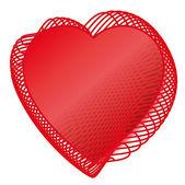 バレンタインの赤い愛の加熱 — ストックベクタ