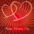 Happy valentines day postcard — Stock Photo #8841703
