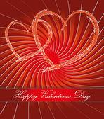 Postkarte zum valentinstag — Stockfoto