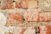 Rode bakstenen muur achtergrond — Stockfoto