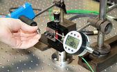 Control measurements in the development lab — Stock Photo