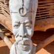 African carved wooden statue — Stock Photo