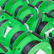 Group of cable reels for new fiber optic installation — Stock Photo #9290177
