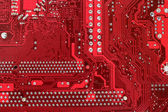 Close up of computer circuit motherboard — Stock Photo