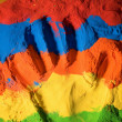Color handprint — Stock Photo #8405965