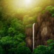 Jungle Canopy Waterfall - Digital Painting — Stock Photo
