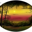 Dusk Horizon - Digital Painting — Stock Photo #9819383