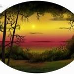 Dusk Horizon - Digital Painting — Stock Photo