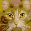 Feline - Digital Painting — Stock Photo