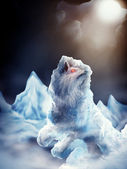 Fenrir Norse Wolf - Digital Painting — Stock Photo