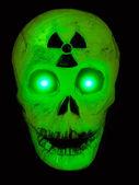 Radioactive Glowing Green Skull — Stock Photo