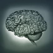 Human Brain - Digital Painting — Foto de Stock