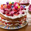 Happy birthday cake — Stockfoto