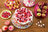 Variety of sweet treats on a table — Stock Photo