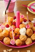 Birthday pastries — Stock Photo