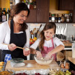 Mother and Daughter together in kitchen — Stock Photo #9070361
