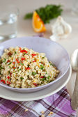 Pearl barley salad — Stock Photo